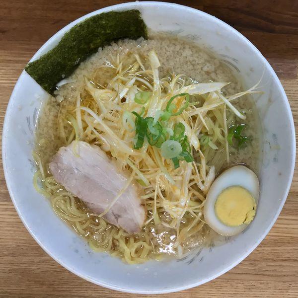 「ネギラーメン ¥800円(麺大盛無料〕」@らーめん三水の写真