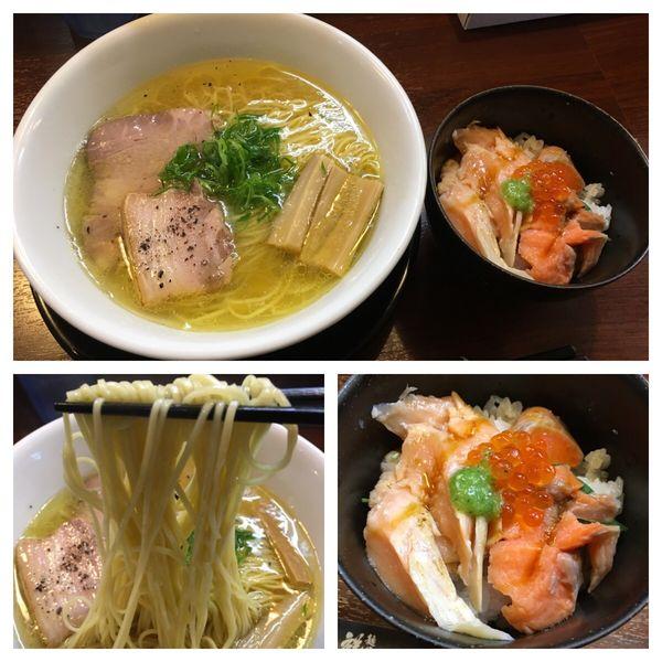 「上湯中華蕎麦〜雉物語〜、鮭親子の極出汁茶漬け」@麺の風 祥気の写真