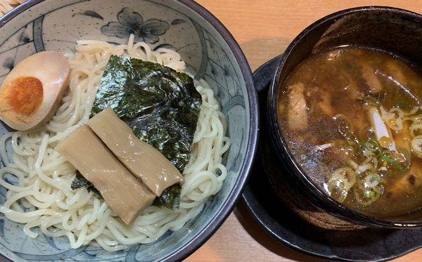 「醤油つけ麺」@焦がしねぎらーめん 葱次郎の写真