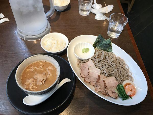 「魚介豚骨スープのもり蕎麦」@麺創 なな家の写真