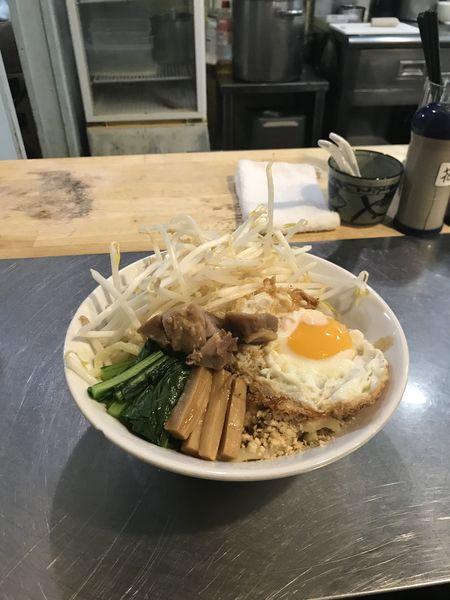 「汁なし普通盛り」@つけ麺・汁なし専門店 R 中村店の写真