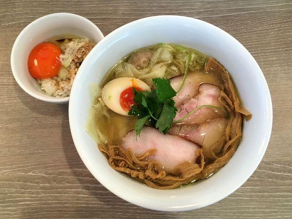 「特製三位一体 + 玉子かけご飯」@中華そば 和渦 TOKYOの写真