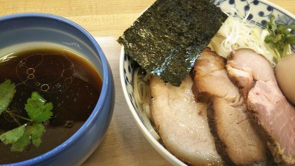 「昆布水のあっさりつけ麺 (醤油、中盛無料)」@麺処 有彩の写真