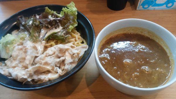 「カレーつけ麺850円」@極太めん ひでまる 千波店の写真
