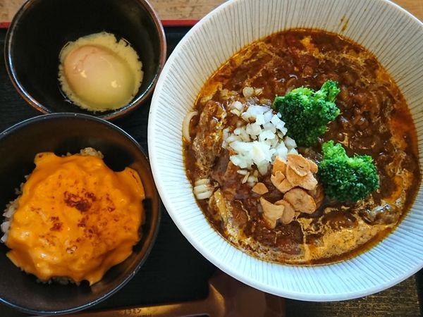 「【限定】牛スジカレーヌードル(チーズ飯付き)¥930」@和風らーめん 凪の写真