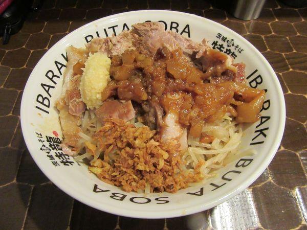 「汁なし(850円)+豚増し200円」@茨城豚そば 特龍本店の写真
