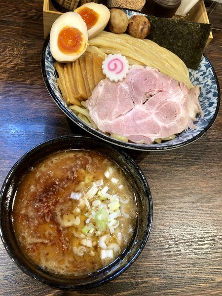 「【限定】えび香る鶏豚骨つけ麺¥900+大盛¥50」@麺処はなぶさの写真