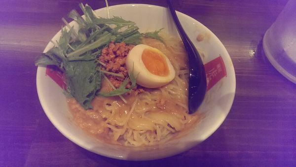 「冷しカレー担々麺、大盛」@麺屋 虎杖 渋谷店の写真