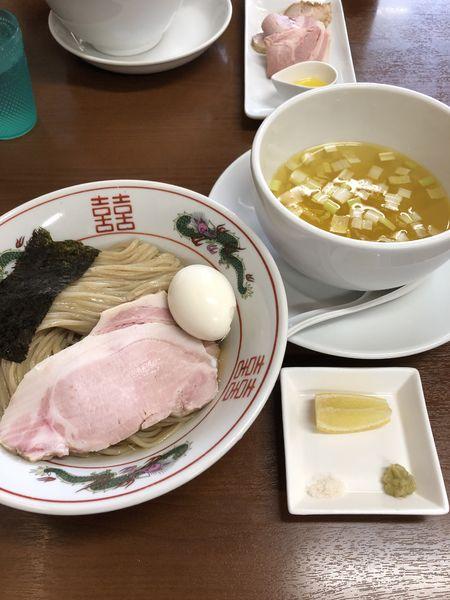 「【限定】昆布水つけ麺(塩)¥900+味玉¥100」@塩らーめん 千茶屋の写真
