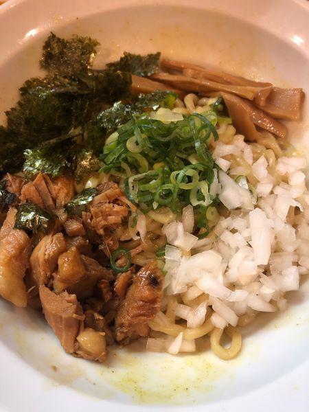 「カレー風味の油そば」@ラーメン 月麺の写真