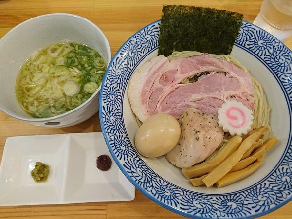 「塩つけそば+味玉(950円)」@中華そば 葵の写真