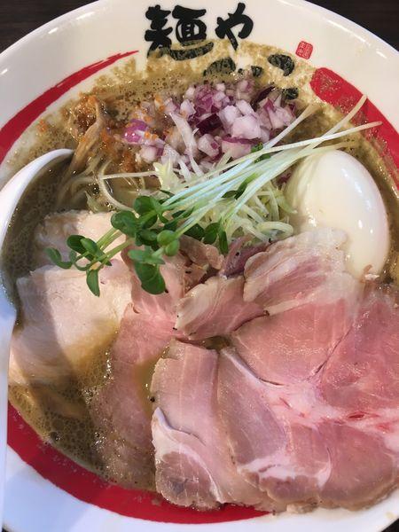 「【限定】特製濃厚牡蠣そば」@麺や でこの写真