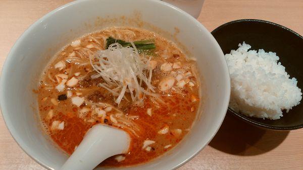 「担々麺¥900-+ライス¥150-」@らぁ麺 はやし田 新宿本店の写真