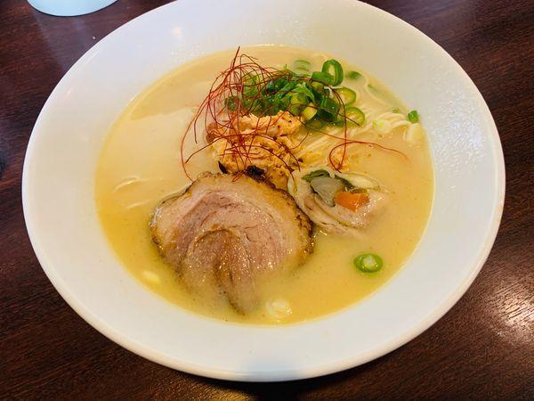 「限定:鶏白湯らーめん」@ラーメン専門店 小川 厚木店の写真
