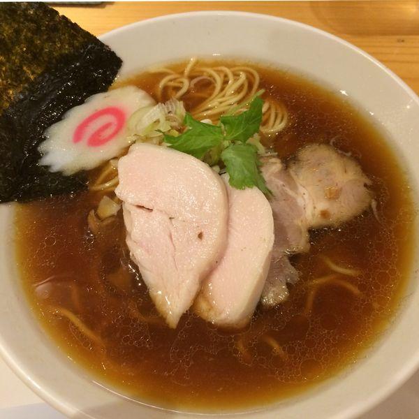 「大山鶏中華そば(並)800円」@麺屋 薫風の写真