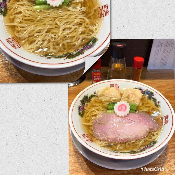 「白だしラーメン¥800&海老ワンタン2個¥140」@キング製麺の写真