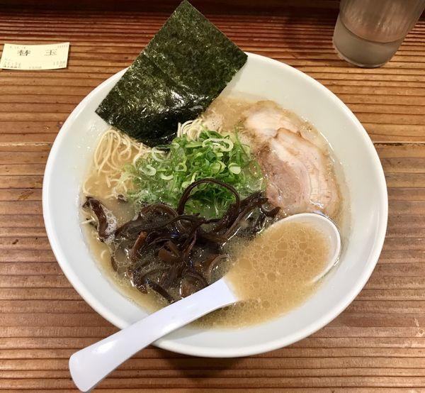 「ラーメン 替玉 焼豚丼」@博多濃麻呂 二子玉川店の写真