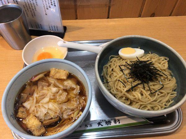 「きのこワンタンつけ麺」@大宮大勝軒の写真