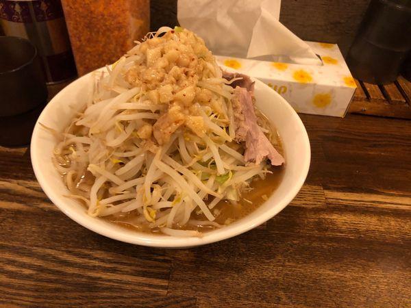 「ラーメン 300g 野菜普通」@高木のぶぅの写真