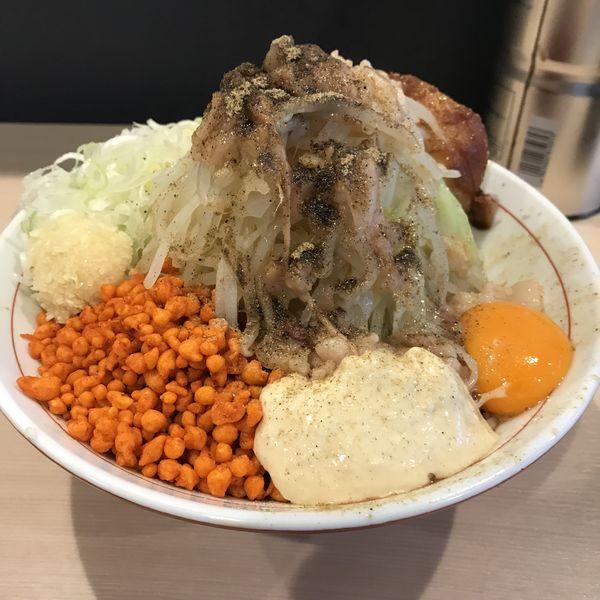 「まぜそば(ミニ)(¥850)」@鷹の目 蒲田店の写真