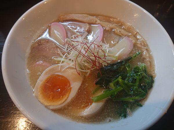 「鯛だし潮らーめん850円、味玉(100円)、雑炊(50円)」@麺や 笑 ~Sho~の写真