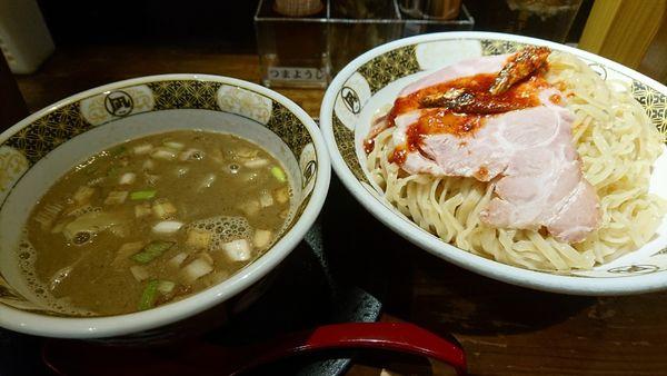 「【昼】煮干つけめん」@すごい煮干ラーメン凪 渋谷東口店の写真
