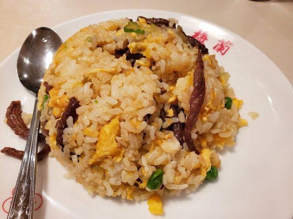 「榨菜牛肉炒飯」@梅蘭 ゲートシティ大崎店の写真