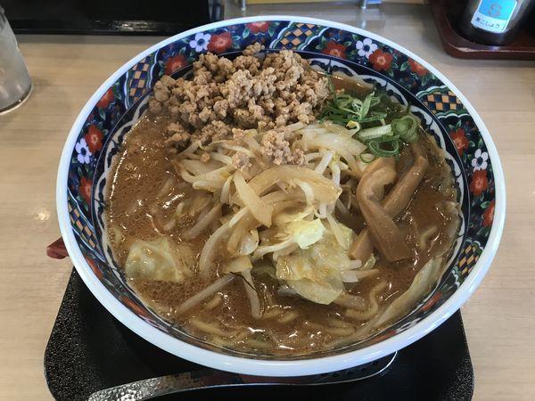 「そぼろ味噌らーめん+クーポン無料」@五穀みそらーめん 味噌屋蔵之介 東大和店の写真