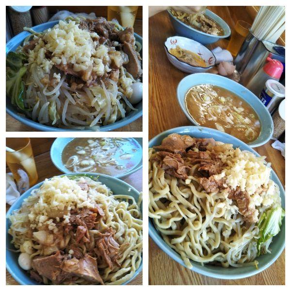 「つけ麺+ちょい増し(600㌘、ニンニク、アブラ)」@ラーメン そらの写真