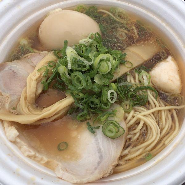 「極み海老だし醤油ラーメン+味玉【麺や厨(静岡)】」@つくばラーメンフェスタ2019の写真