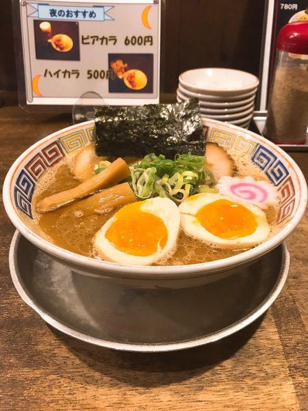「和歌山中華麺 こってりラーメン+味玉820円」@紀州和歌山ラーメン たかしの写真