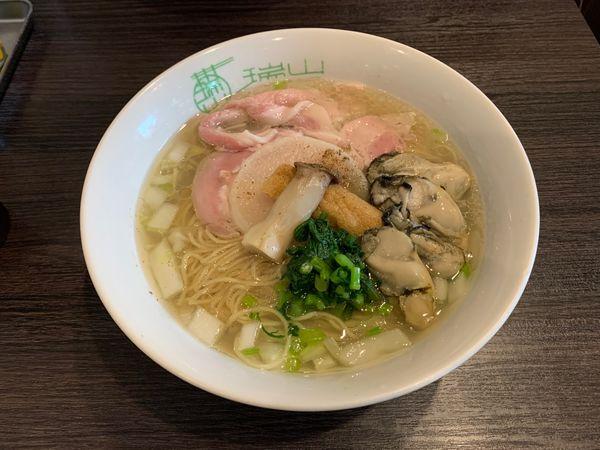 「牡蠣出汁蕎麦」@中華蕎麦 瑞山(ZUIZAN)の写真