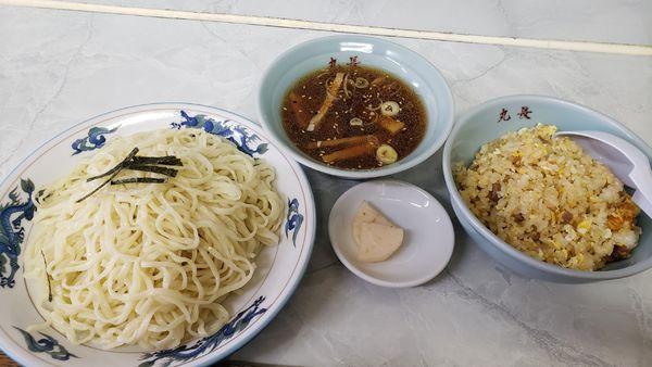 「半チャンつけ麺840円」@丸長 宮原店の写真