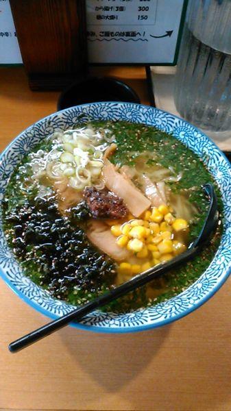 「梅しそらぁ麺 880円 ラーパス アイスウーロン茶」@うなりの写真