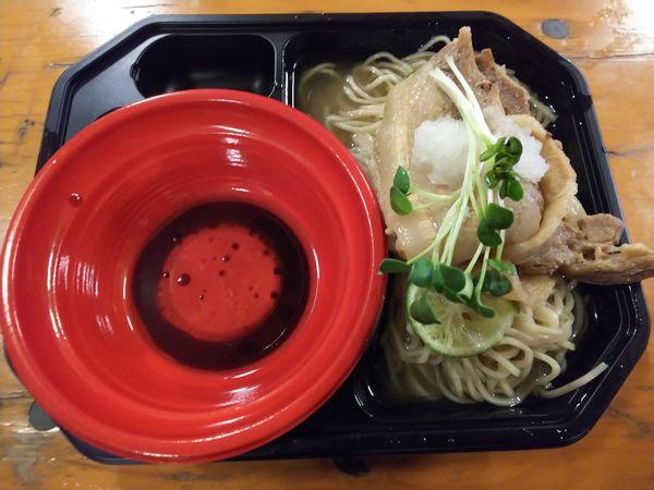 「【有坂】冷やしすだち煮干蕎麦 鴨油のつけダレ付き 870円」@大つけ麺博 美味しいラーメン集まりすぎ祭の写真