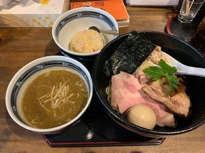 「(限定)濃厚煮干し豚骨つけ麺」@長野らぁ麺 さくら木の写真