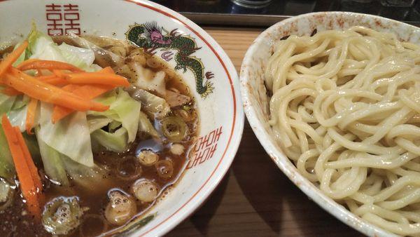 「つけめん+野菜+中盛」@逆流の写真