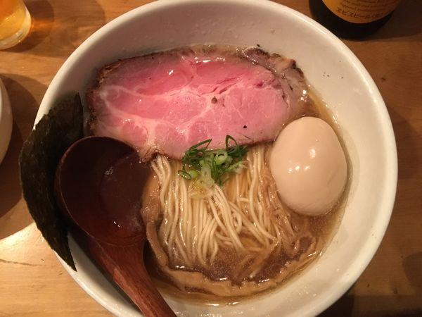 「味玉そば+恵比寿+つまみ」@中華蕎麦 蘭鋳の写真