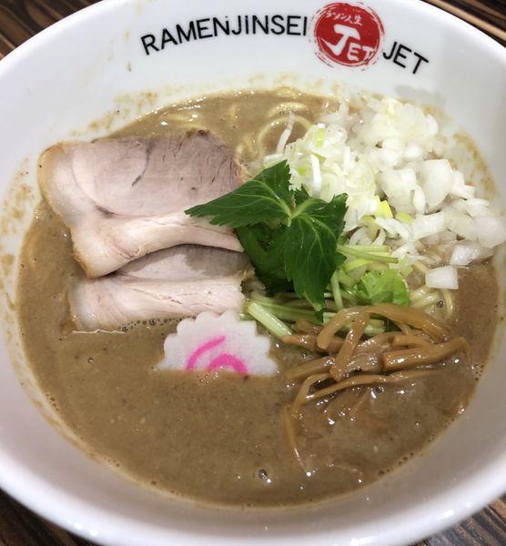 「鶏軍、暁の出撃」@ラーメン人生 JET 福島本店の写真
