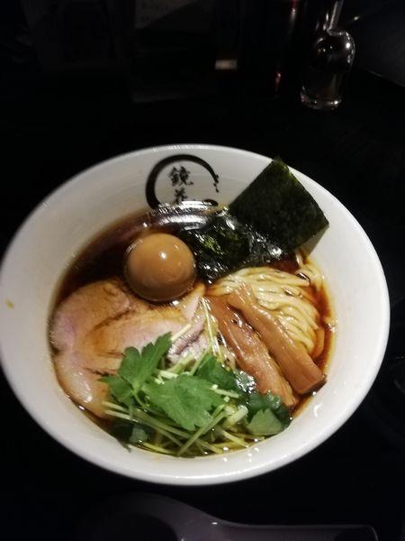 「醤油ラーメン 1100円 クーポン味玉」@らーめん愉悦処 鏡花の写真
