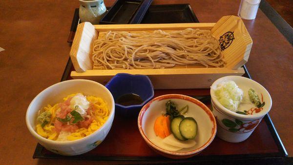 「ミニネギトロ丼ランチ」@ばんどう太郎 つくば学園中央店の写真