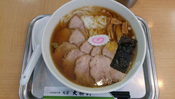 「チャーシューワンタン麺(麺硬め)」@大宮大勝軒の写真