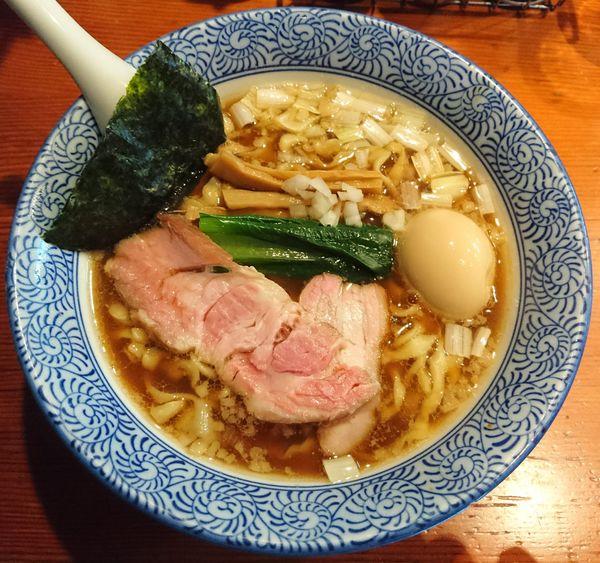 「味玉手揉み中華蕎麦 醤油」@麺処 ほん田の写真