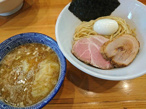「特製豚骨魚介つけ麺小盛(1000円)」@麺笑 コムギの夢の写真