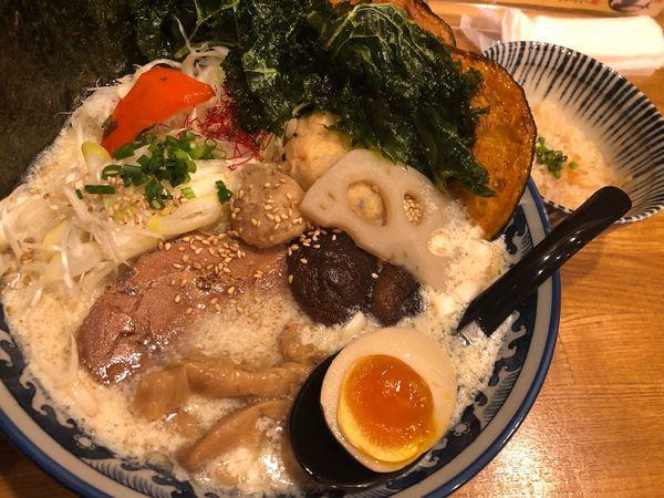 「豆乳ベジラーメン」@和風楽麺 四代目 ひのでや 大宮店の写真