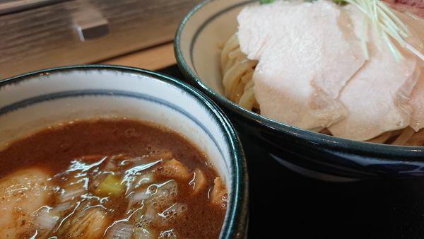 「鶏魚介の特製つけ麺」@つけ麺 いな月の写真