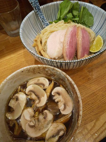 「【期間限定】鴨と茸 淡麗つけそば950円」@中華そば きなりの写真