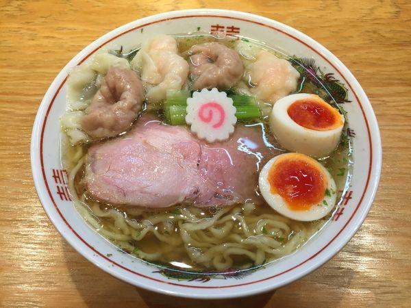 「全部入りワンタン麺 山椒 中盛」@キング製麺の写真