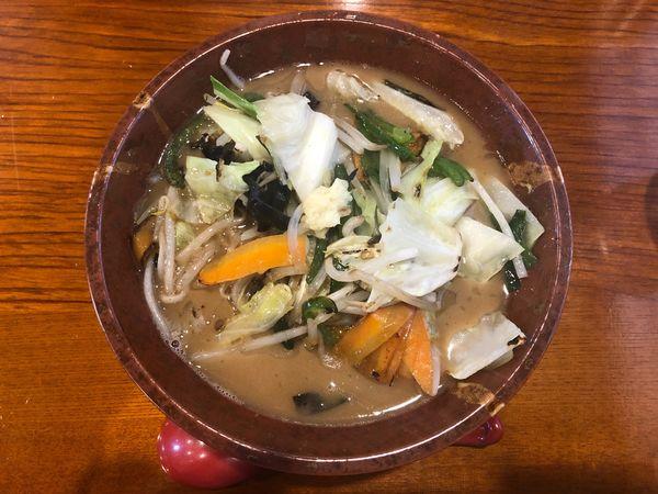 「ドカ盛り野菜味噌」@麺房 あんよんの写真