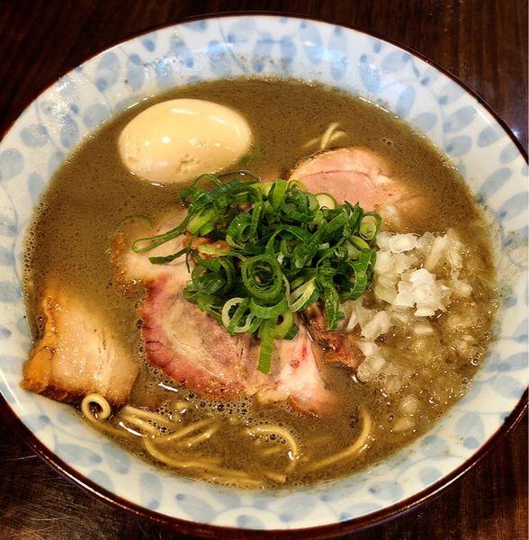 「中濃煮干そば(味玉)」@寿製麺よしかわ 保谷店の写真